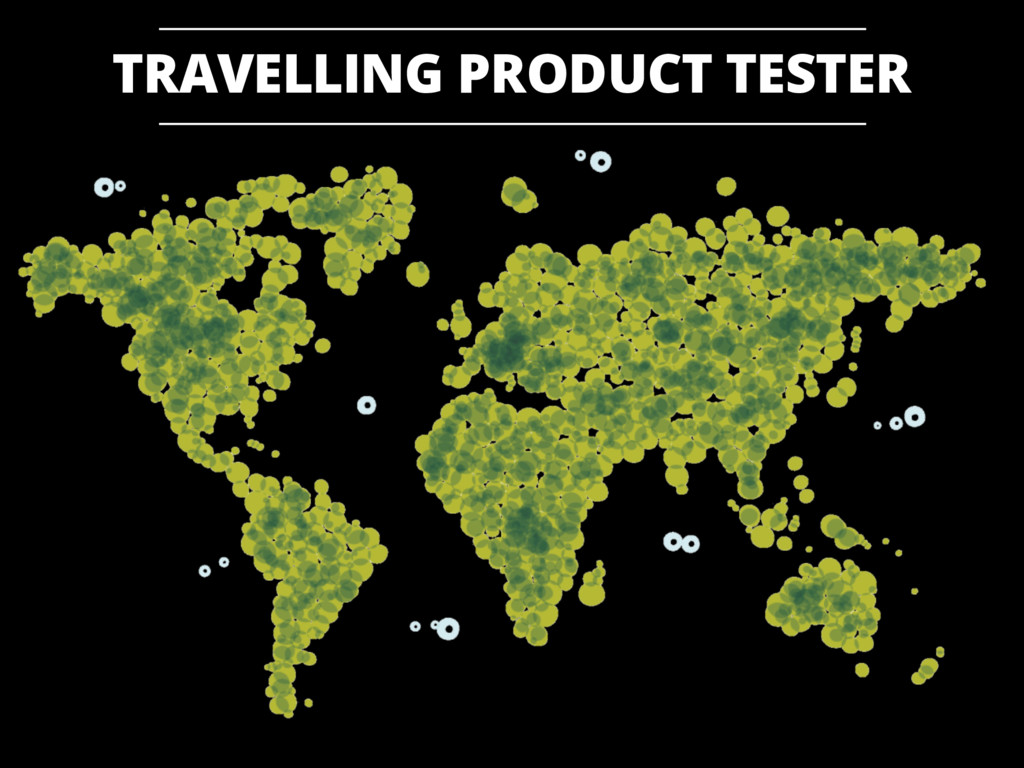 TRAVELLING PRODUCT TESTER