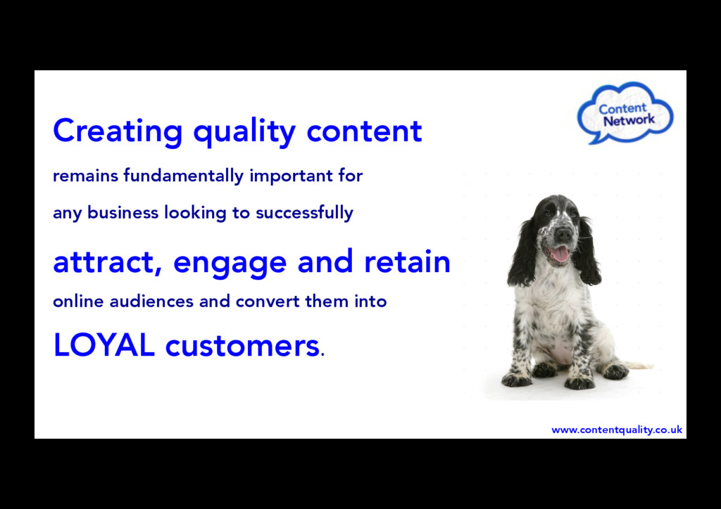 Creating quality content remains fundamentally ...