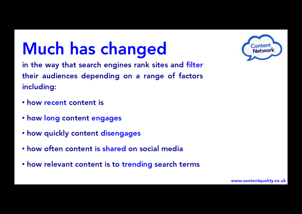 Much has changed in the way that search engines...