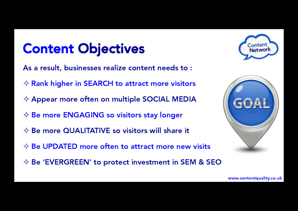 Content Objectives As a result, businesses real...