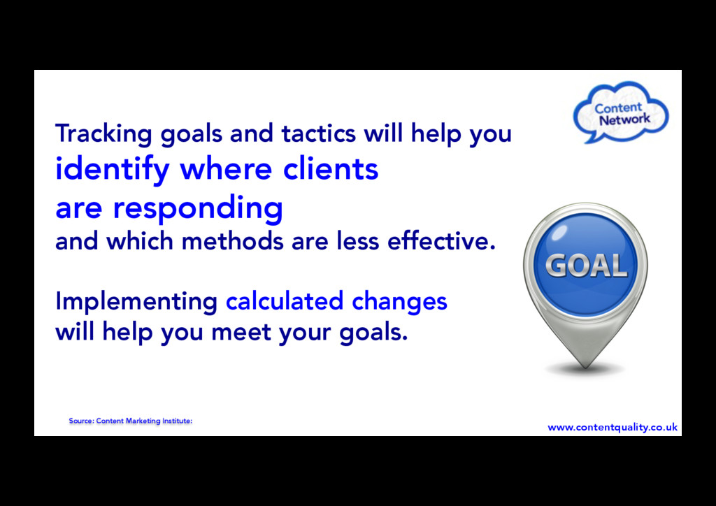 Source: Content Marketing Institute: Tracking g...