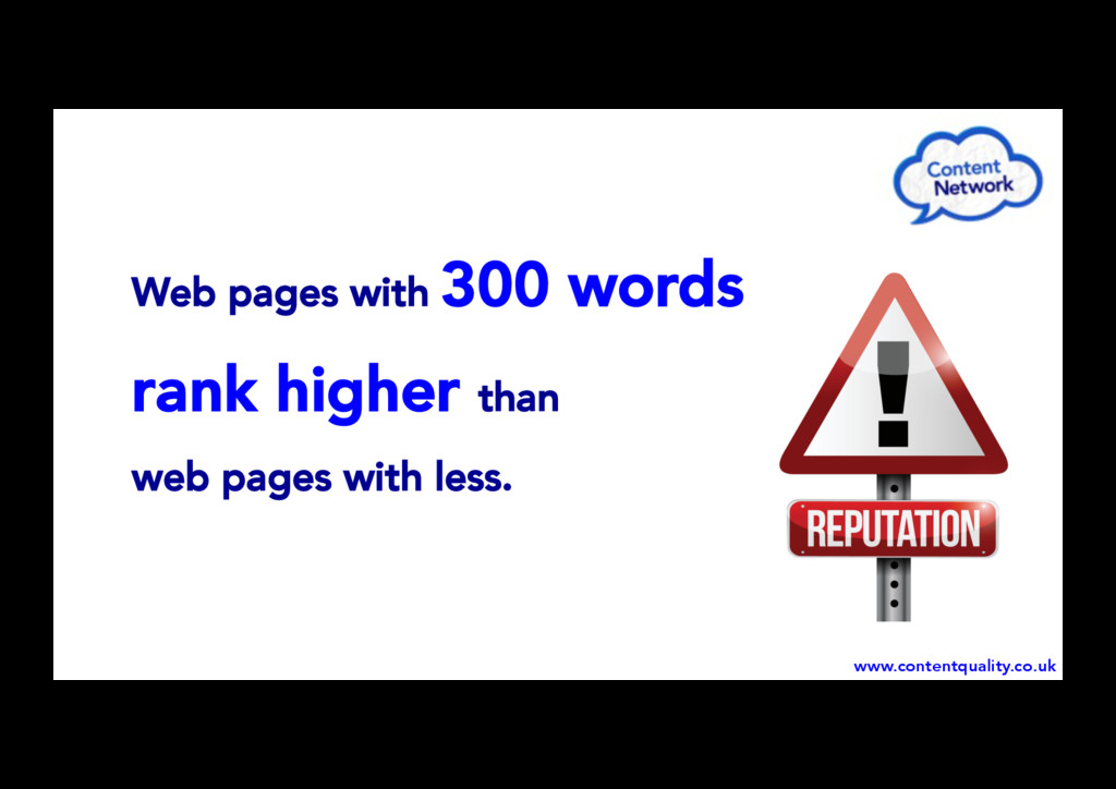 Web pages with 300 words rank higher than web p...