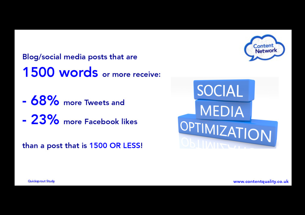 Blog/social media posts that are 1500 words or ...