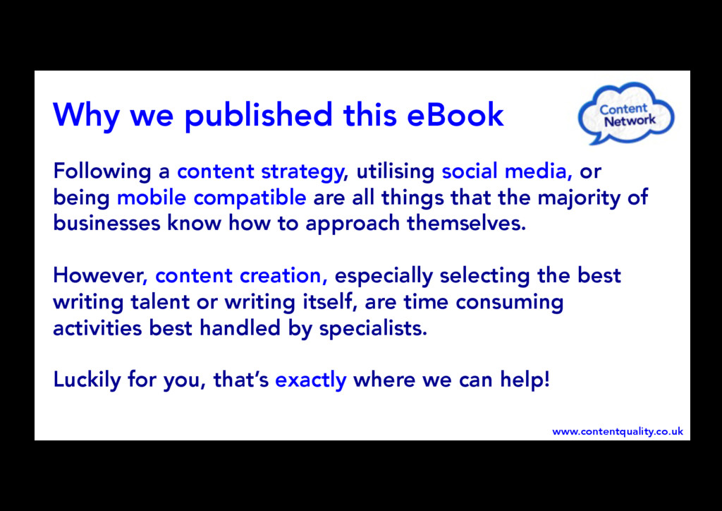 Following a content strategy, utilising social ...