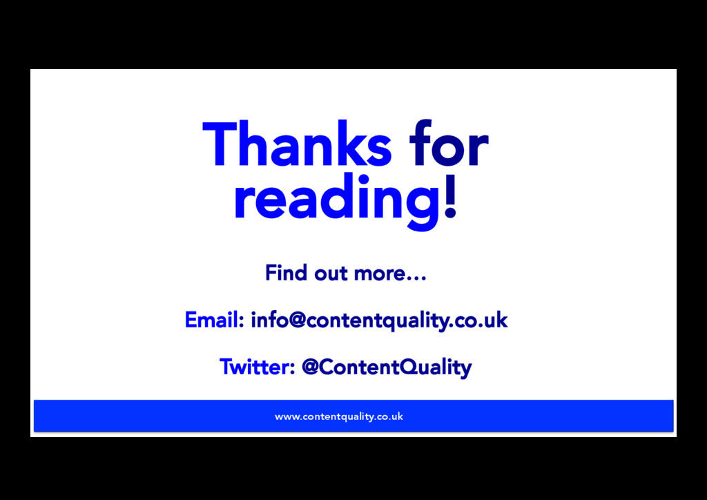 Thanks for reading! Find out more… Email: info@...