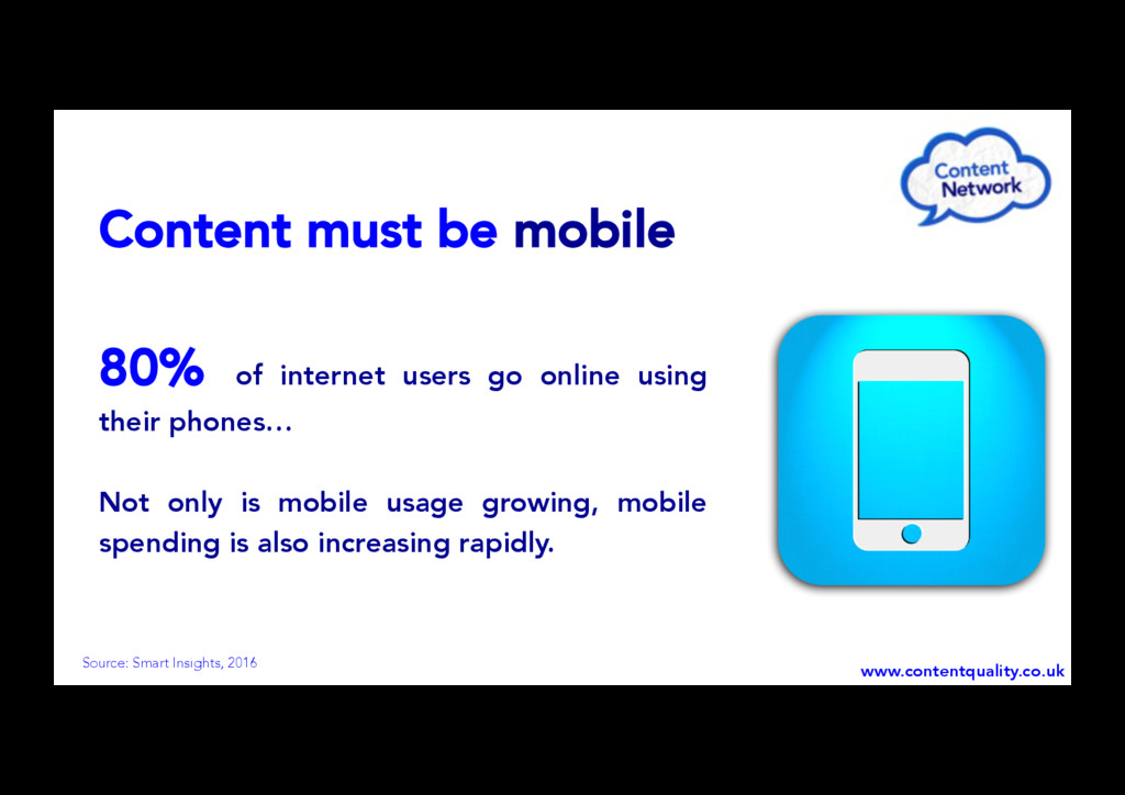 Content must be mobile 80% of internet users go...