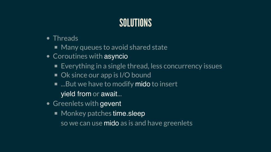 SOLUTIONS Threads Many queues to avoid shared s...