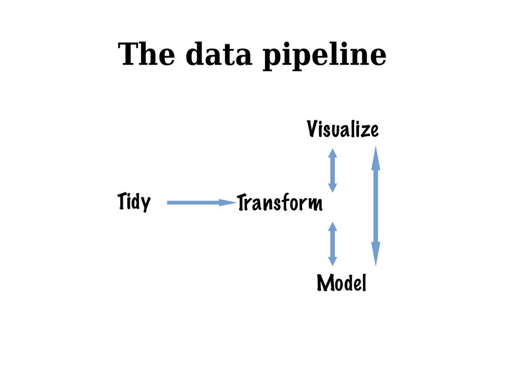 The data pipeline Tidy Transform Model Visualize