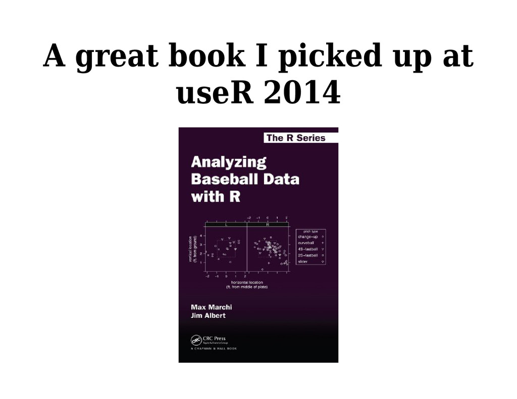 A great book I picked up at useR 2014