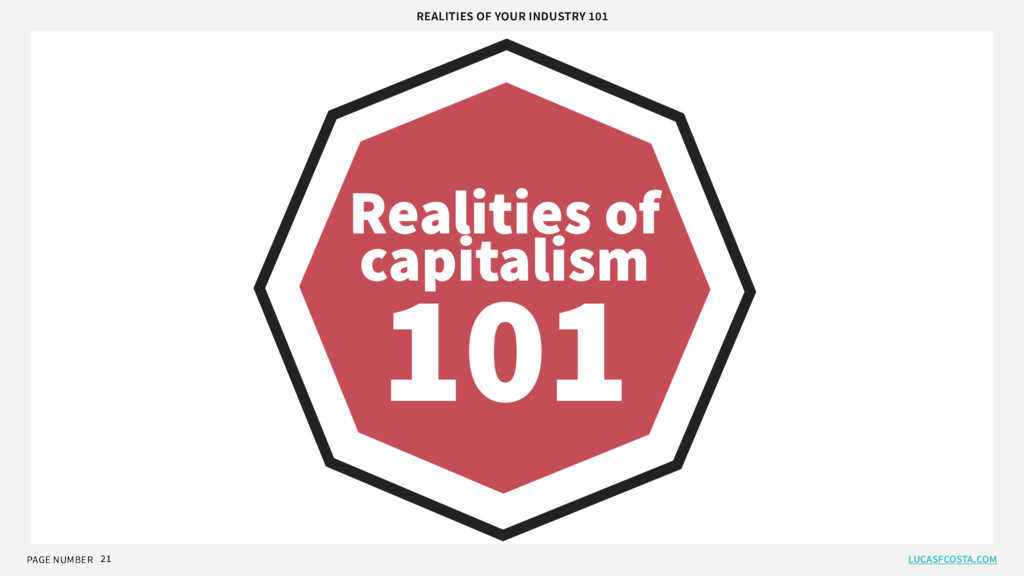 PAGE NUMBER 21 Realities of capitalism 101 REAL...