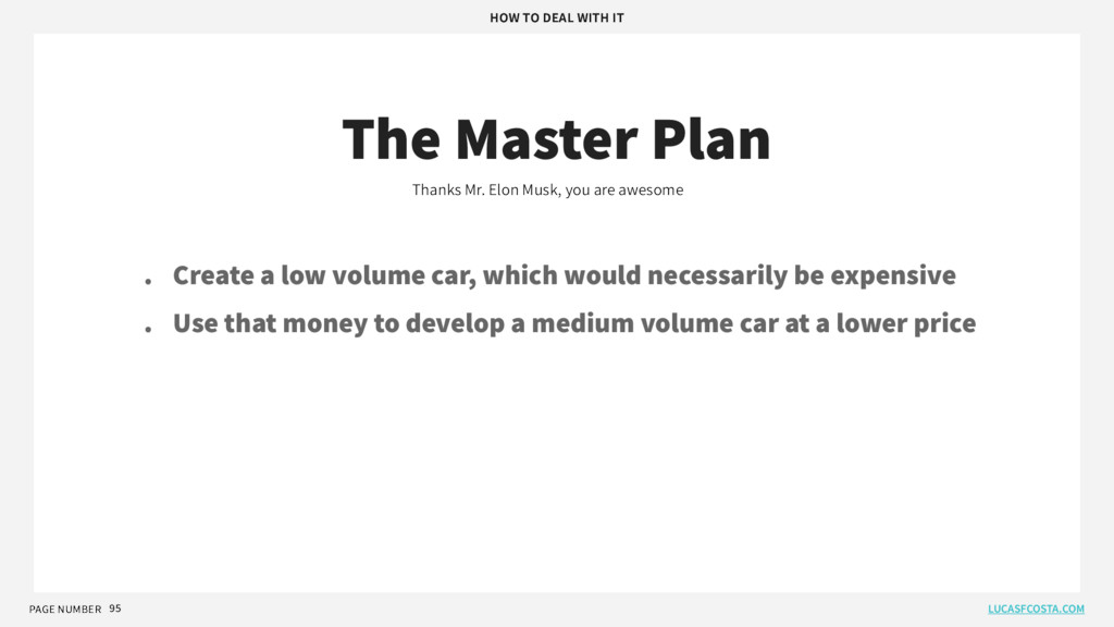 PAGE NUMBER 95 The Master Plan Thanks Mr. Elon ...