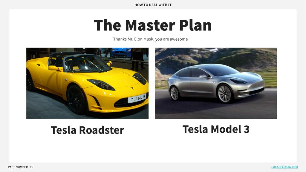PAGE NUMBER 98 The Master Plan Tesla Roadster T...