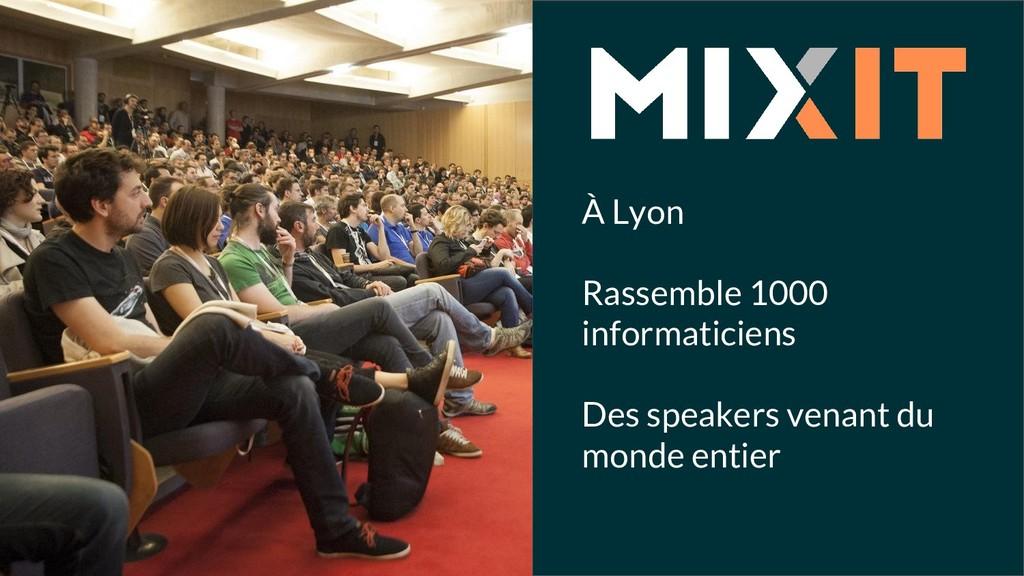 À Lyon Rassemble 1000 informaticiens Des speake...