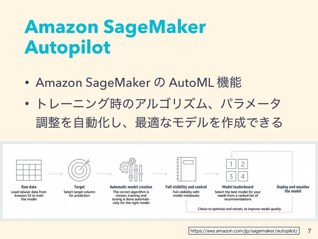 Amazon SageMaker Autopilot • Amazon SageMaker ͷ...