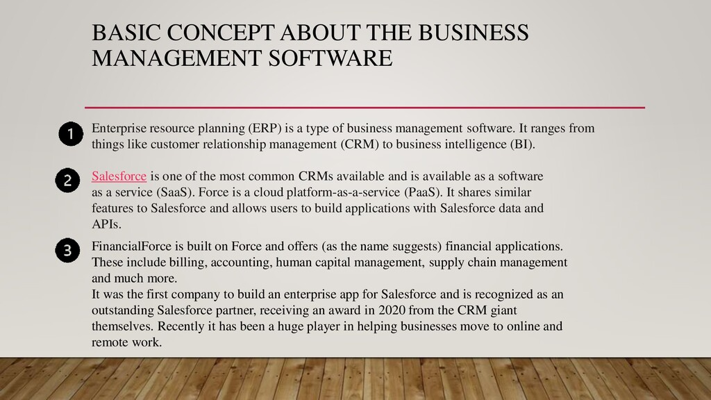 BASIC CONCEPT ABOUT THE BUSINESS MANAGEMENT SOF...