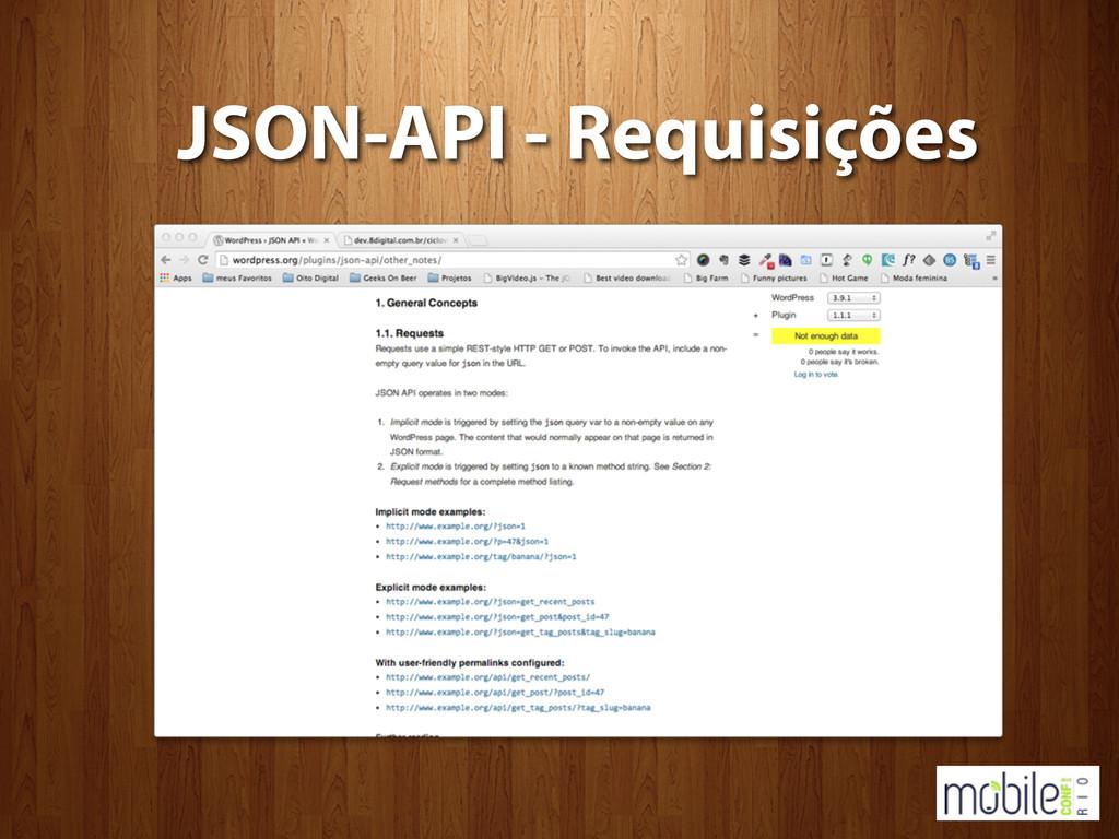 JSON-API - Requisições