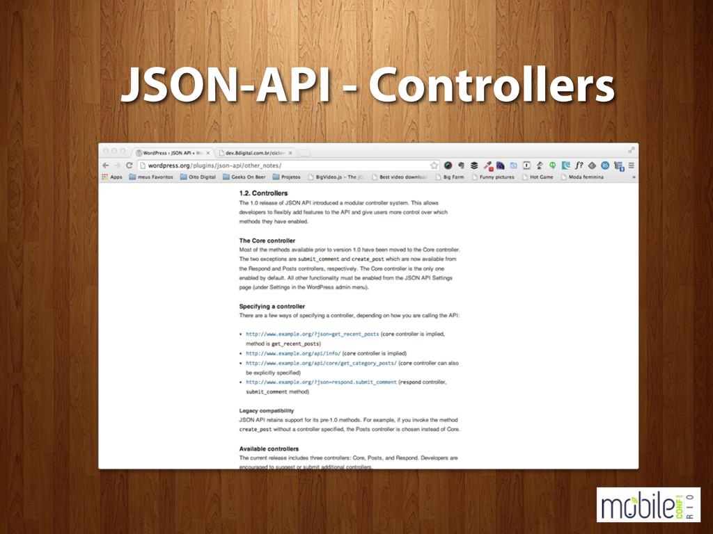 JSON-API - Controllers