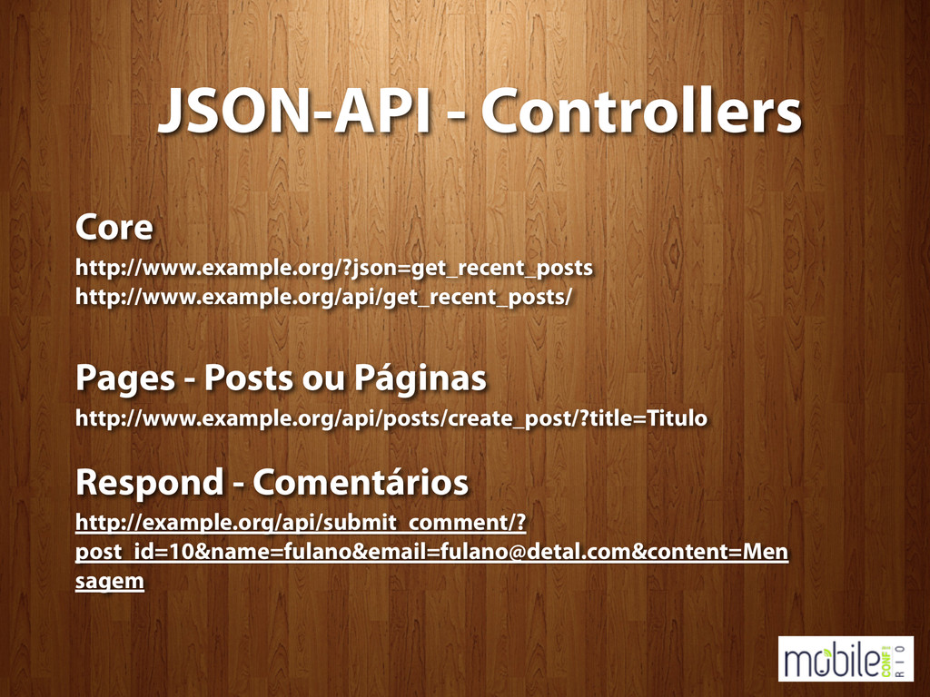 JSON-API - Controllers Core http://www.example....