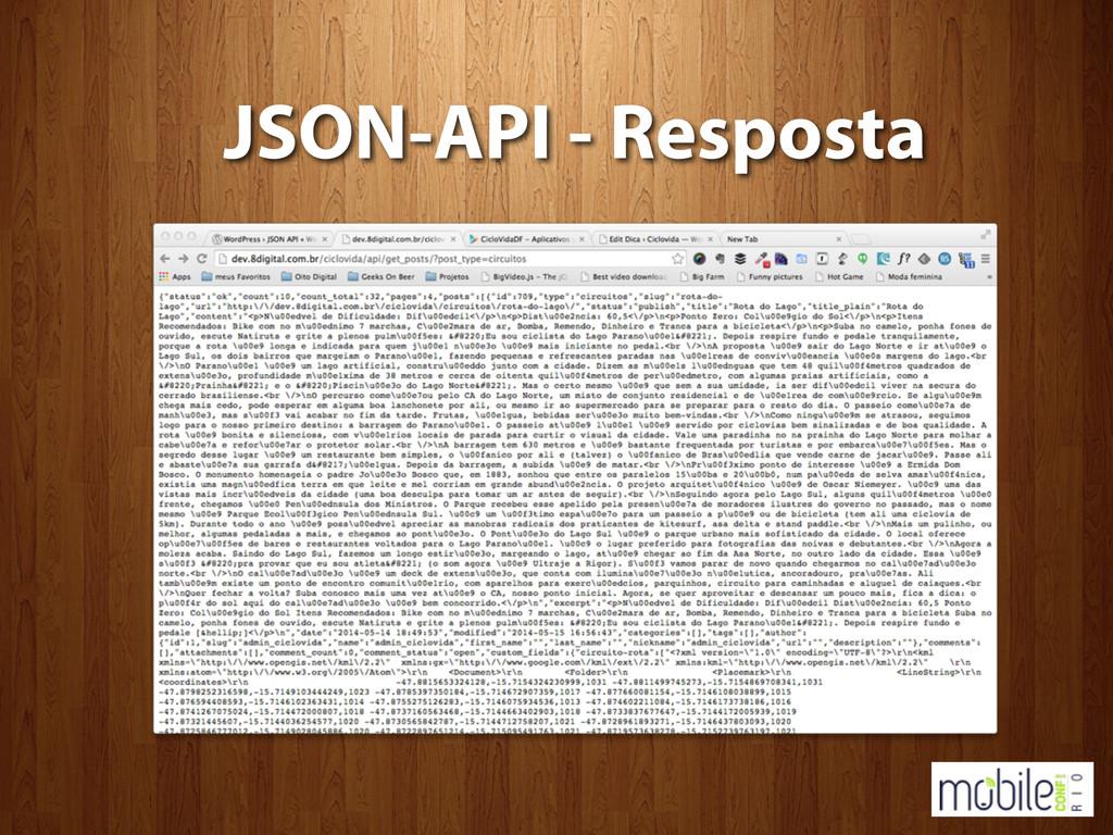 JSON-API - Resposta