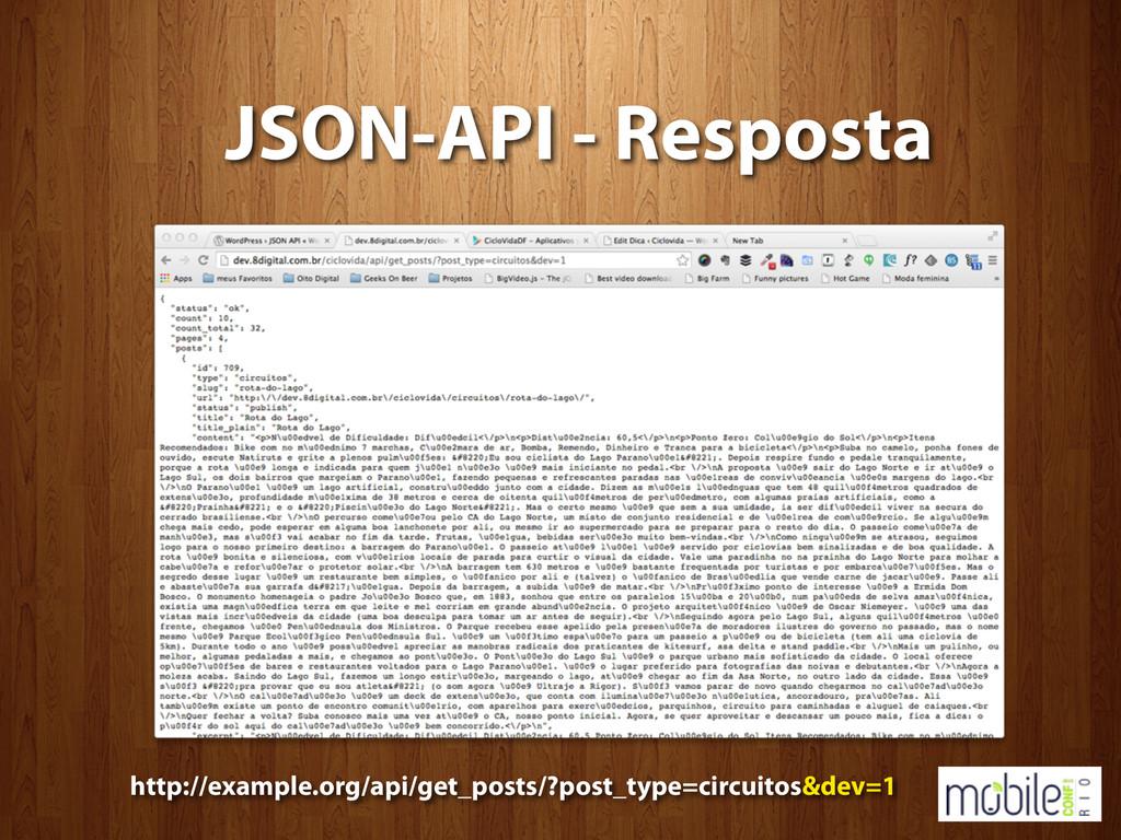 JSON-API - Resposta http://example.org/api/get_...