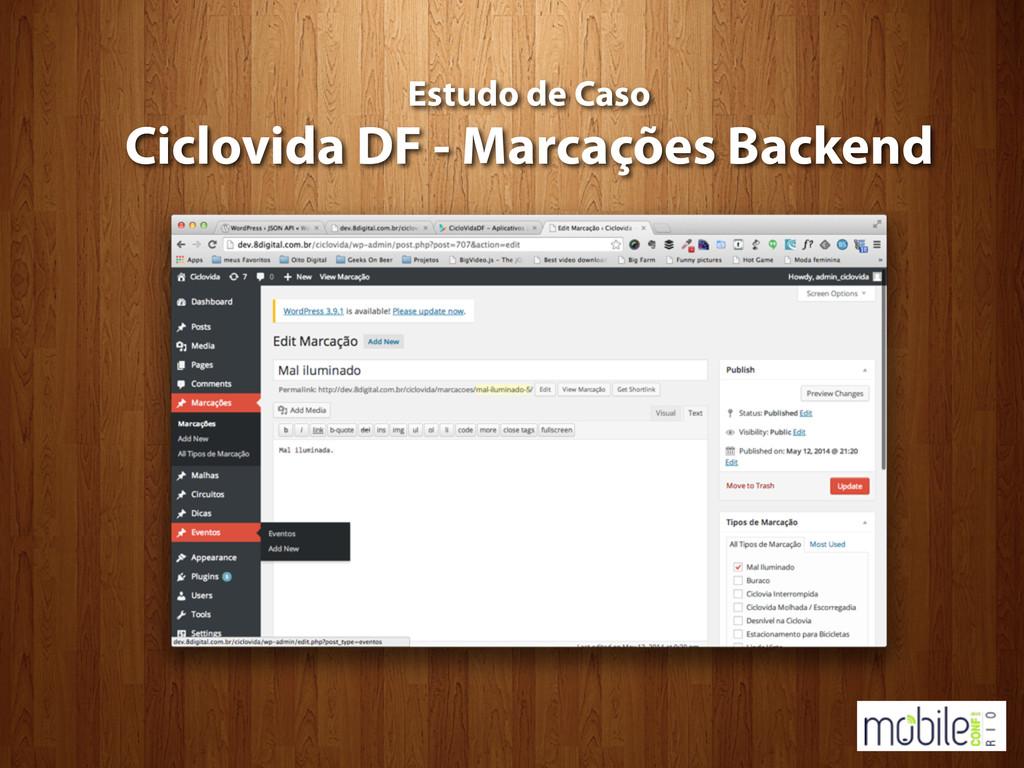 Estudo de Caso Ciclovida DF - Marcações Backend