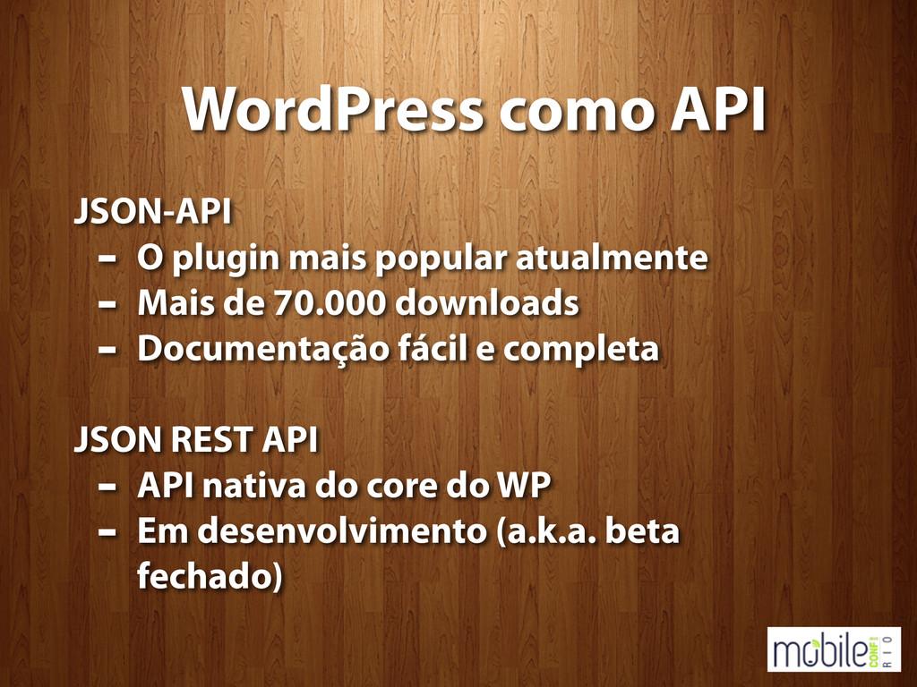 WordPress como API JSON-API - O plugin mais pop...