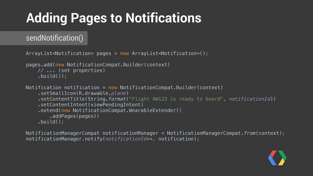 ArrayList<Notification> pages = new ArrayList<N...