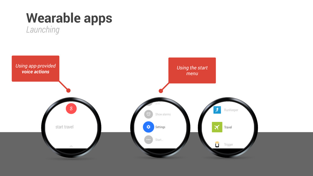 Launching Wearable apps Using app-provided voic...