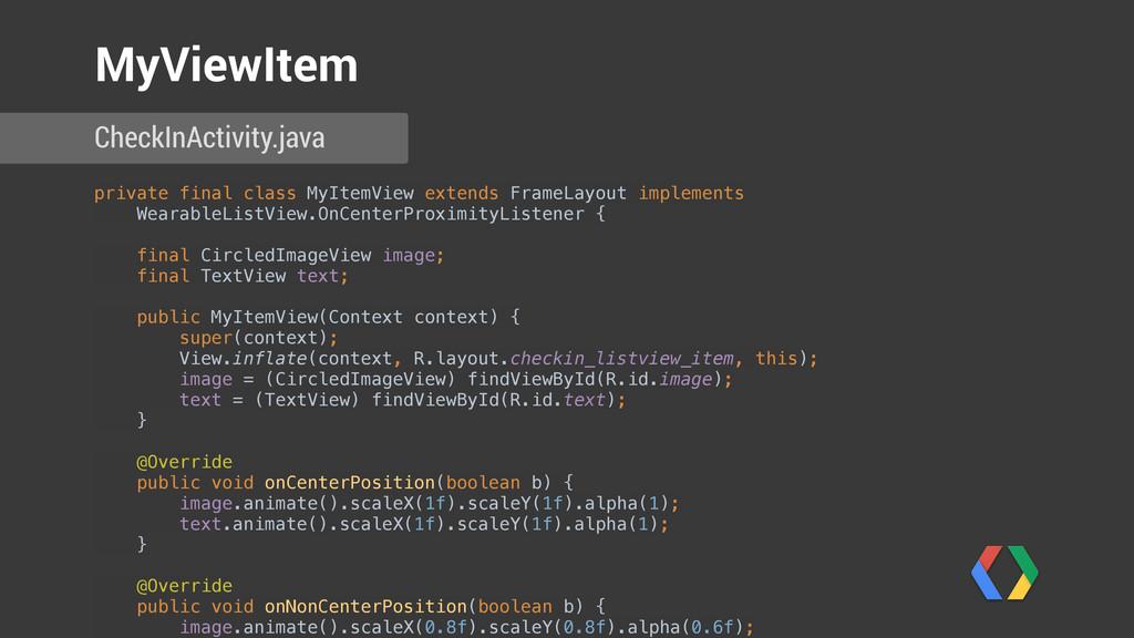 private final class MyItemView extends FrameLay...