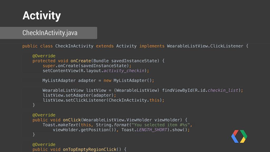 public class CheckInActivity extends Activity i...