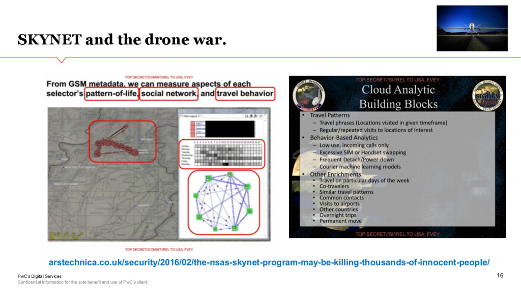 PwC's Digital Services SKYNET and the drone war...