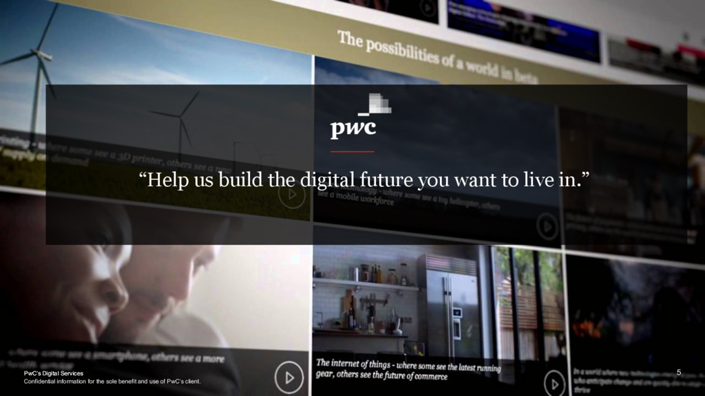"PwC's Digital Services ""Help us build the digit..."