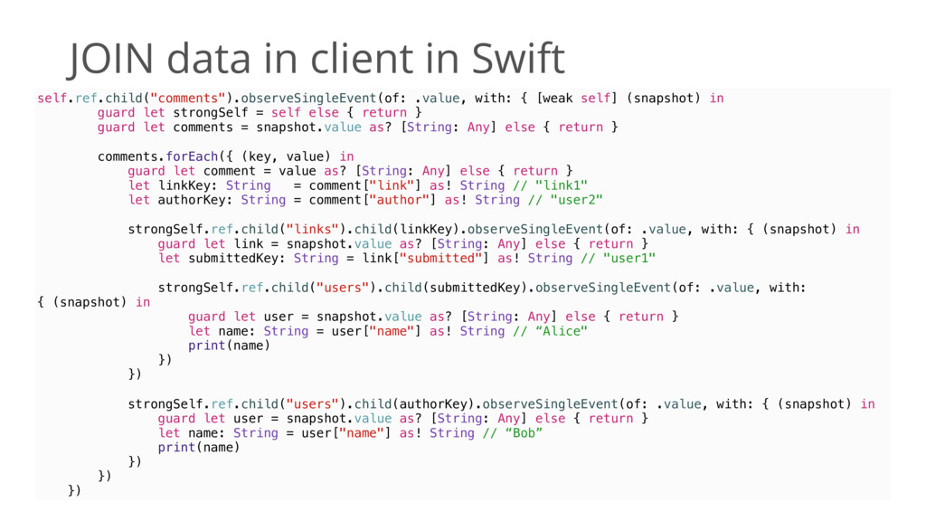 """JOIN data in client in Swift self.ref.child(""""co..."""