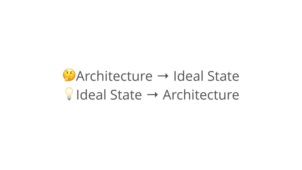 """!Architecture → Ideal State """"Ideal State → Arch..."""