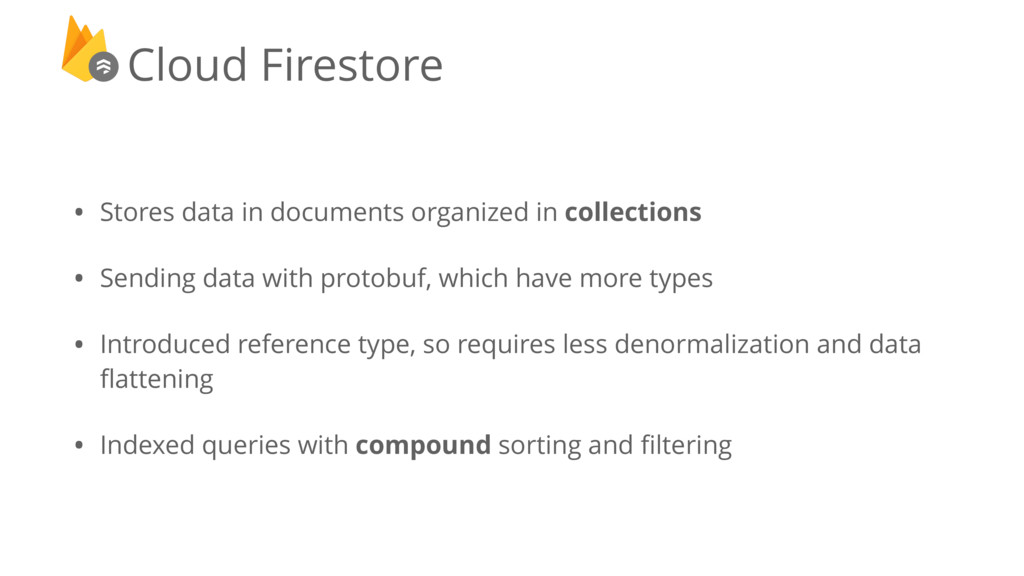 • Stores data in documents organized in collect...