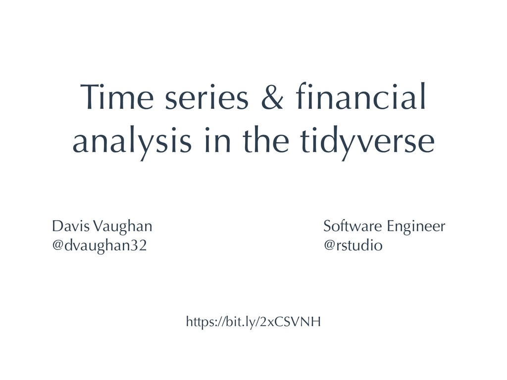 Time series & financial analysis in the tidyvers...