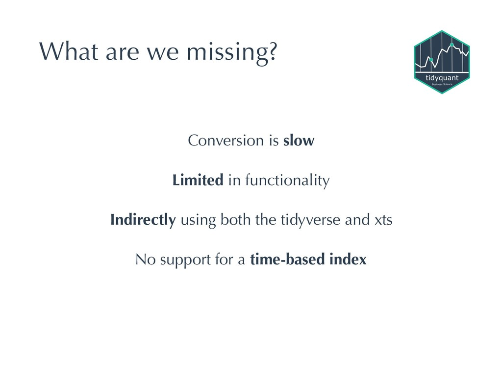 What are we missing? Conversion is slow Limited...