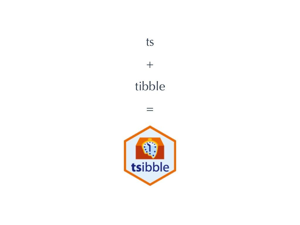 ts + tibble =