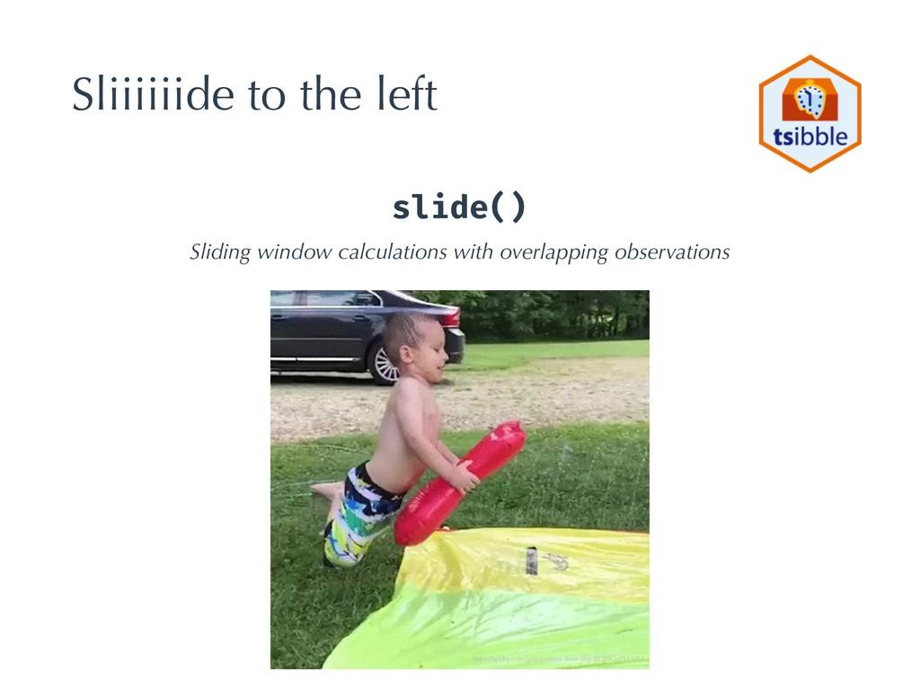 Sliiiiiide to the left slide() Sliding window c...