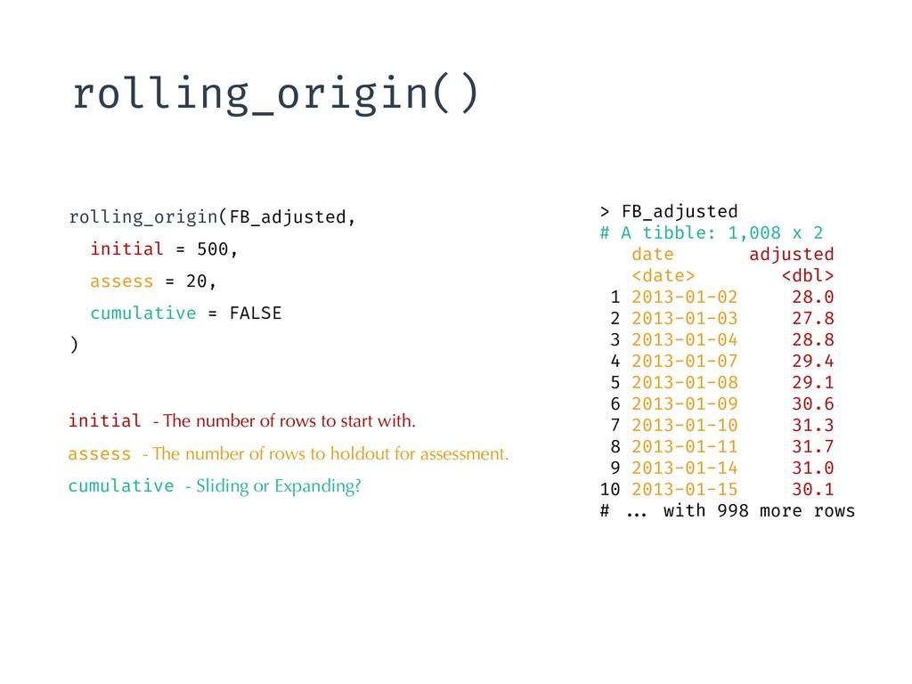 rolling_origin() > FB_adjusted # A tibble: 1,00...
