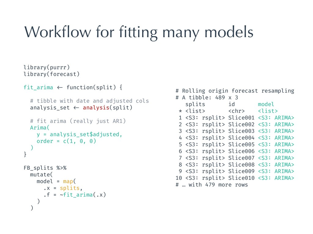 Workflow for fitting many models library(purrr) l...