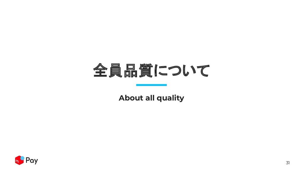 31 全員品質について About all quality