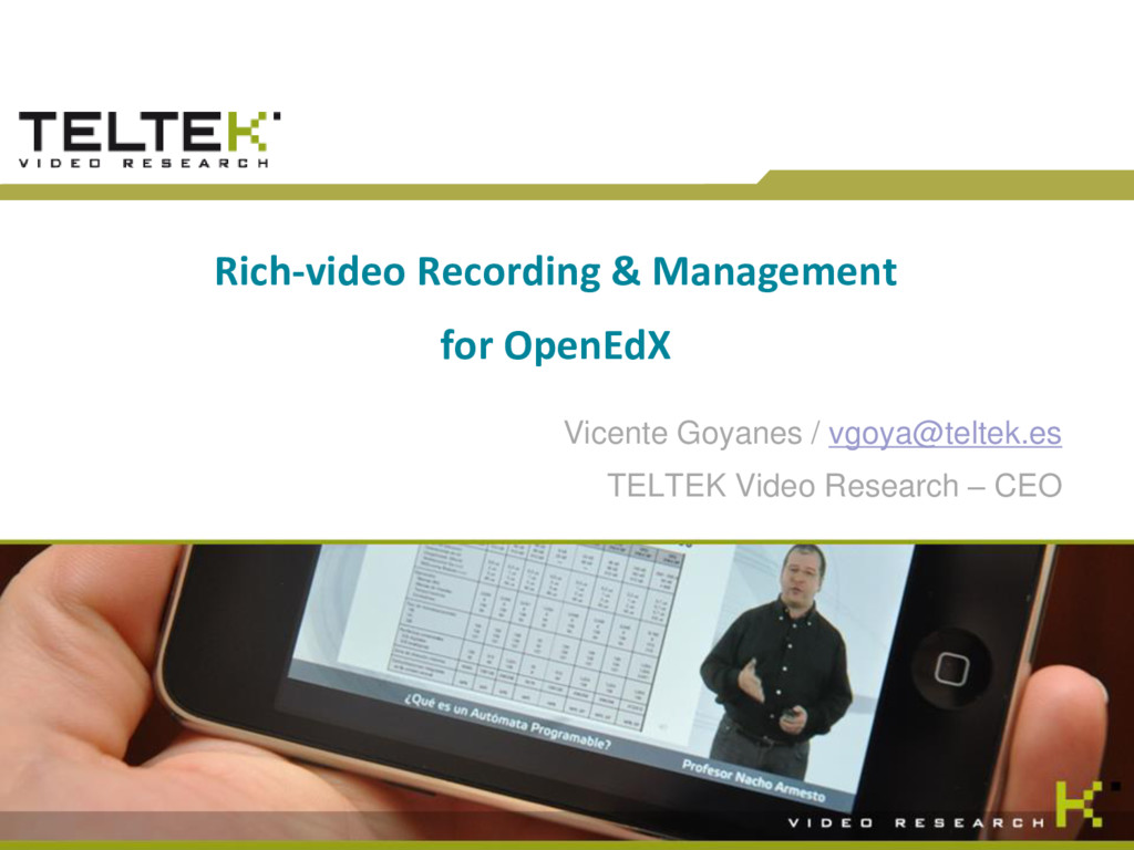TELTEK Research. © 2015 TelTek Video Research R...