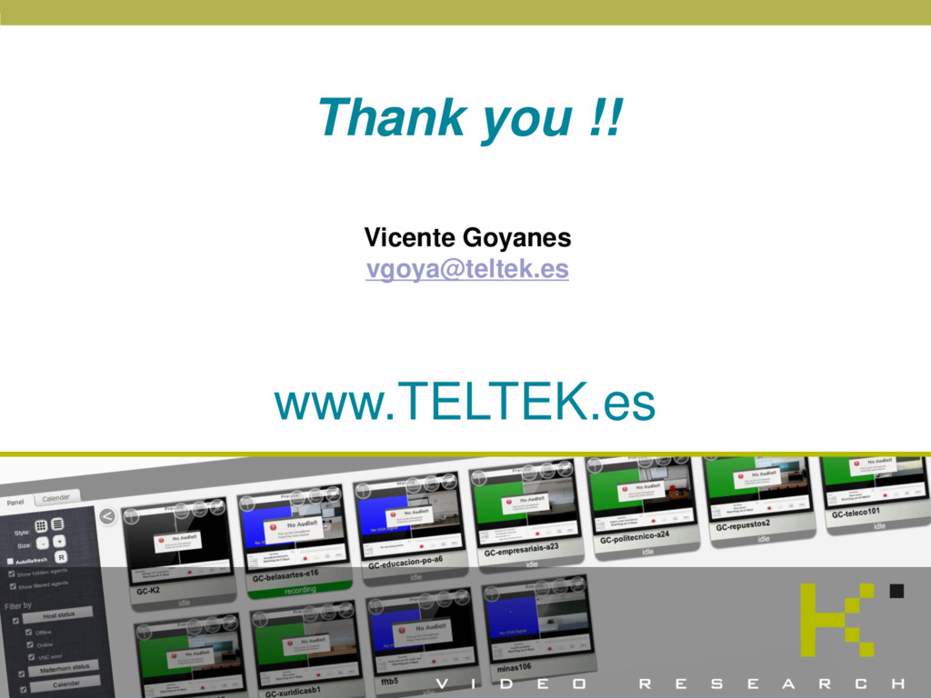 WWW.TELTEK.ES © 2016 TELTEK Video Research Vice...
