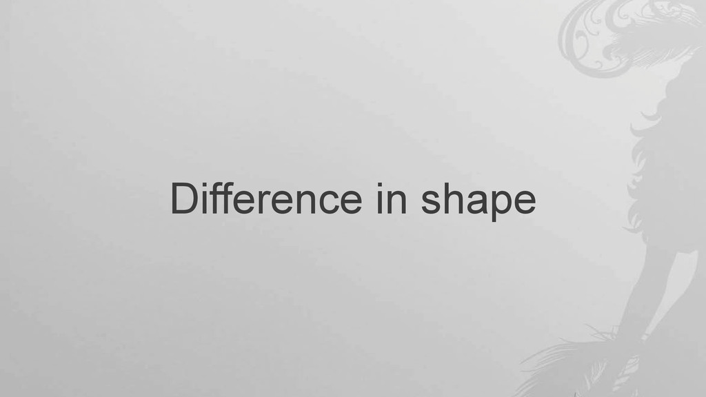 Difference in shape