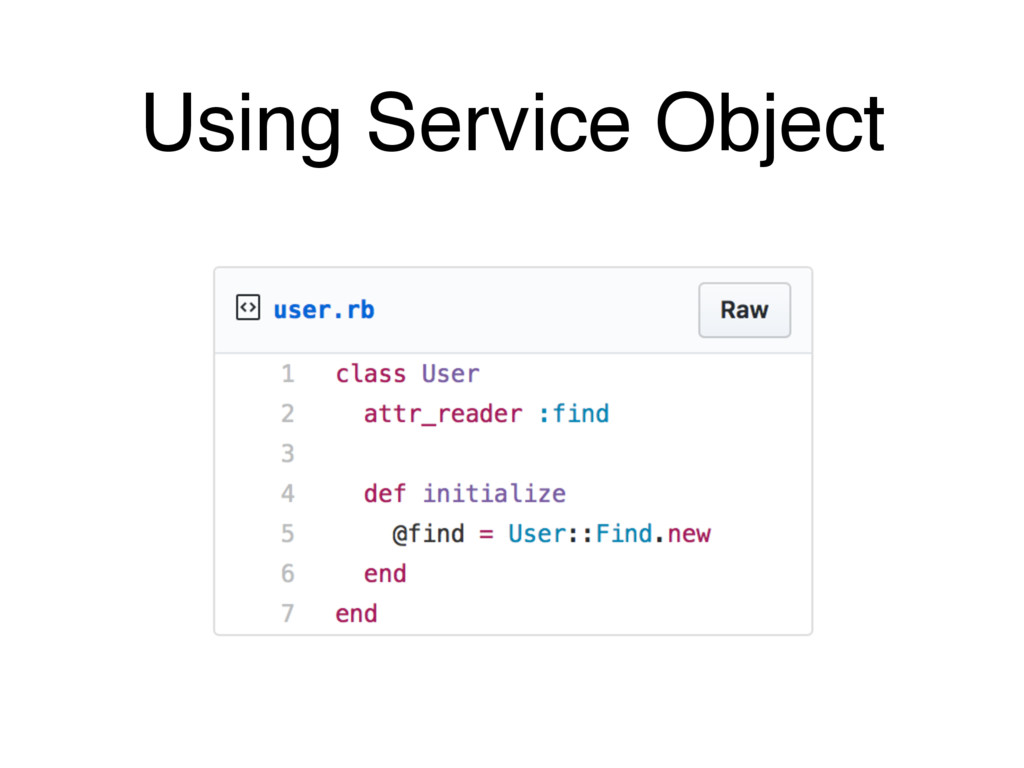 Using Service Object