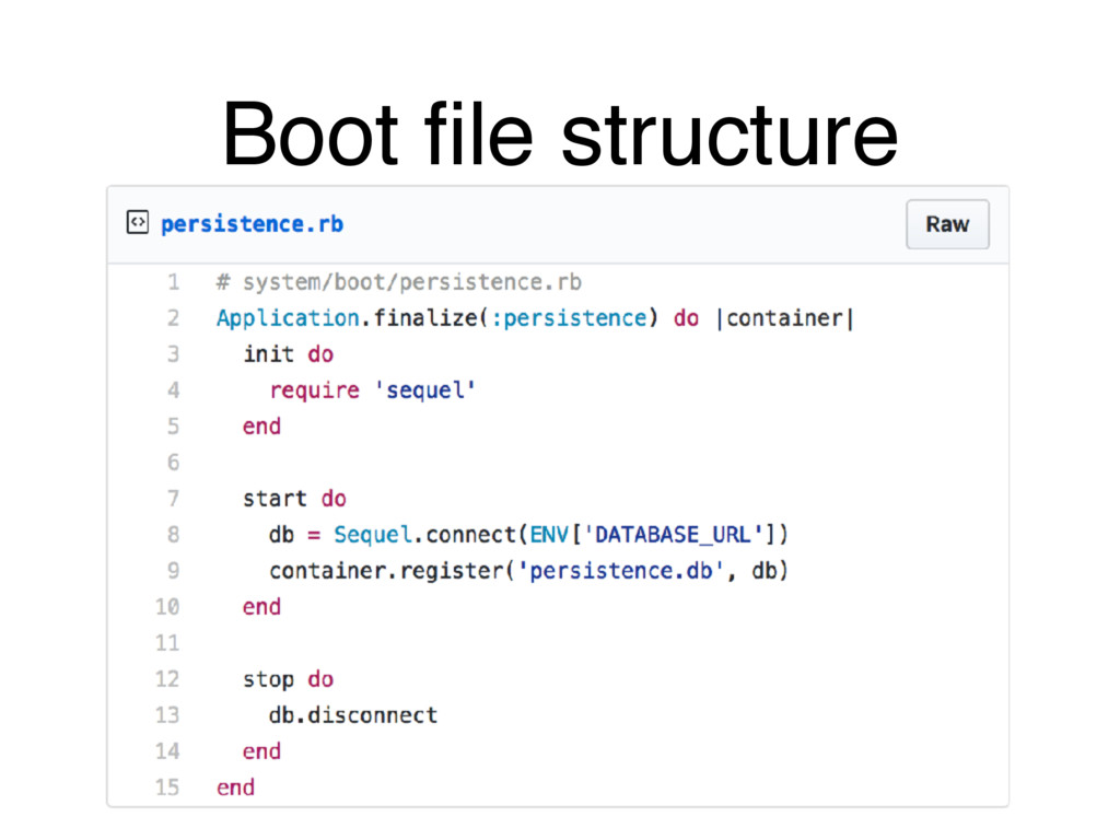 Boot file structure