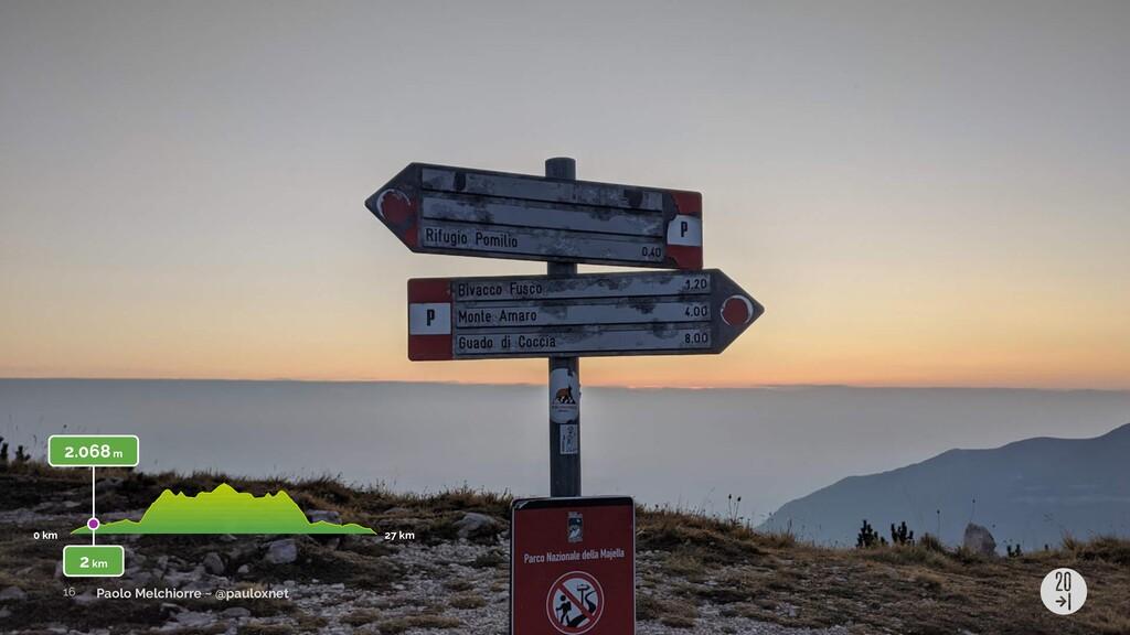 Paolo Melchiorre ~ @pauloxnet 2.068 m 0 km 27 k...