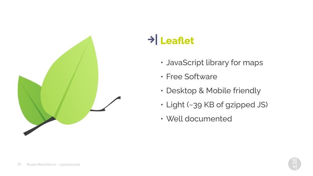 Paolo Melchiorre ~ @pauloxnet • JavaScript libr...