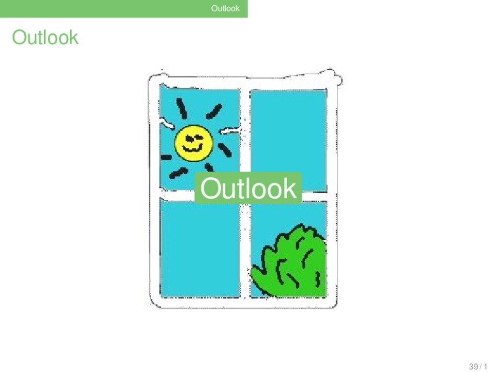 Outlook Outlook Outlook 39 / 1